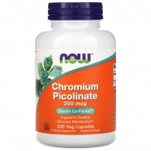 Витамины NOW Chromium Picolinate 200 мкг 250 капс